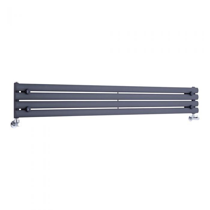 Radiador de Diseño Horizontal - Antracita - 236mm x 1780mm x 56mm - 646 Vatios - Revive