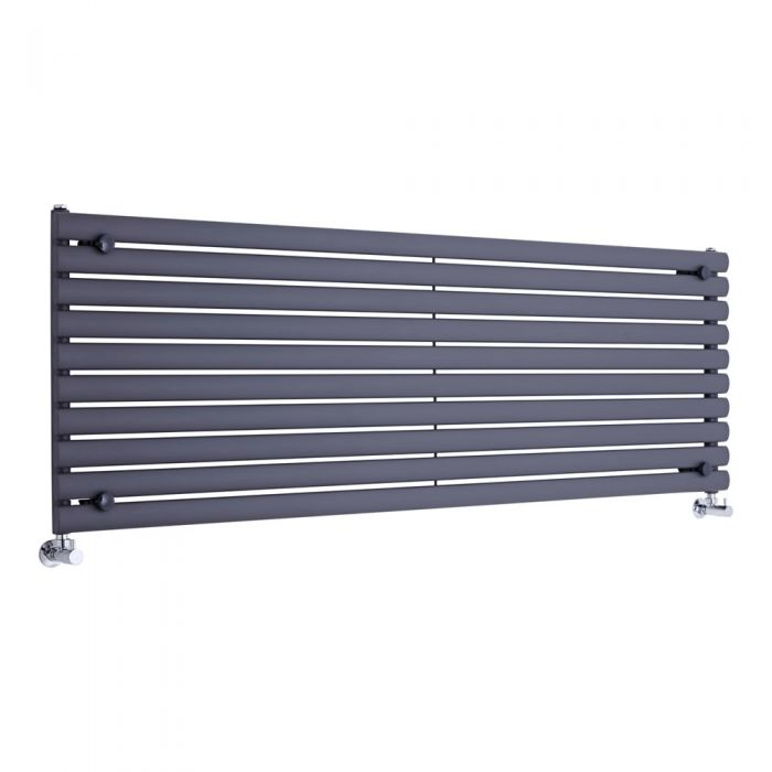 Radiador de Diseño Horizontal - Antracita - 590mm x 1780mm x 55mm - 1476 Vatios - Revive
