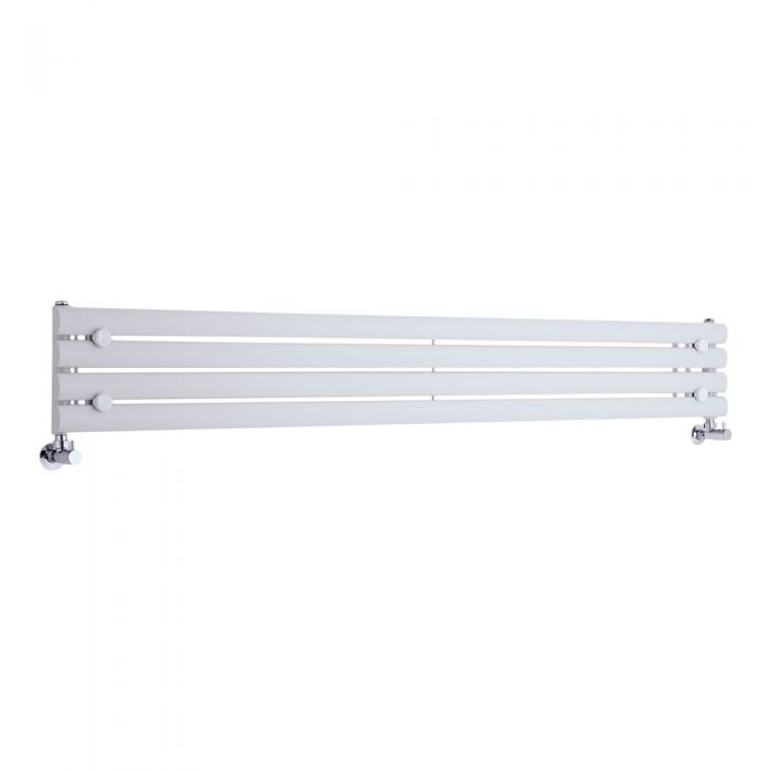 Radiador de Diseño Horizontal - Blanco - 236mm x 1780mm x 55mm - 646 Vatios - Revive