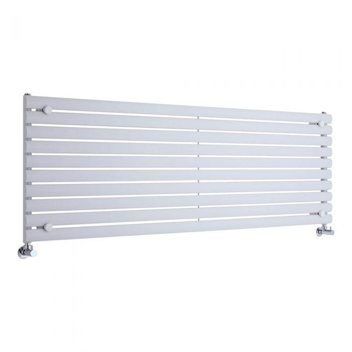 Radiador de Diseño Horizontal - Blanco - 590mm x 1780mm x 55mm - 1476 Vatios - Revive