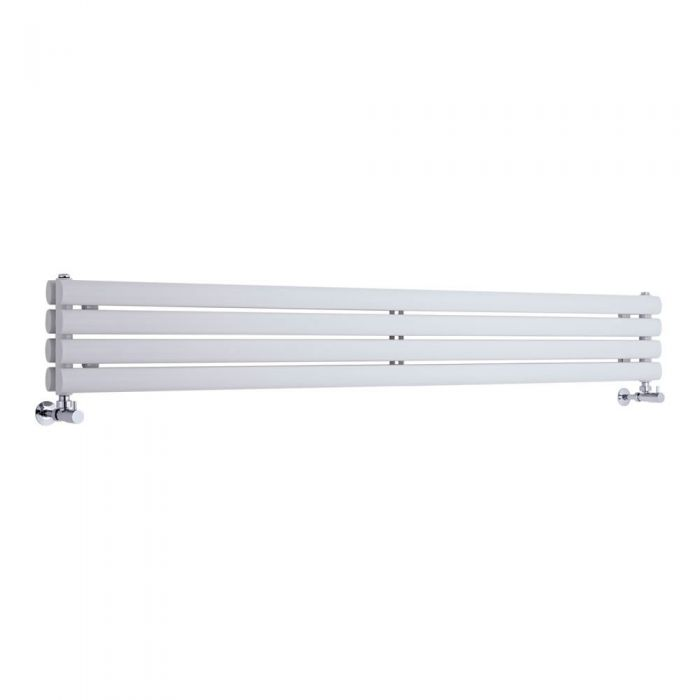 Radiador de Diseño Horizontal Doble - Blanco - 236mm x 1780mm x 78mm - 920 Vatios - Revive