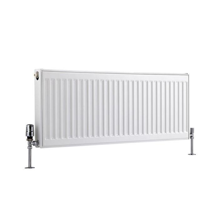 Radiador Convector Horizontal con Panel Doble Plus - Blanco - 400mm x 1000mm x 73mm - 1210 Vatios - Eco