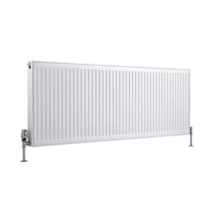 Radiador Convector Horizontal con Panel Doble Plus - Blanco - 600mm x 1600mm x 73mm - 2718 Vatios - Eco
