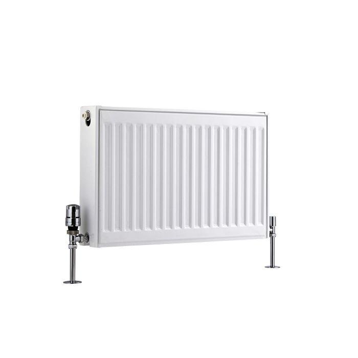 Radiador Convector Horizontal Doble - Blanco - 400mm x 600mm x 103mm - 879 Vatios - Eco