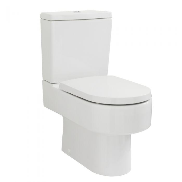 Inodoro WC de Pie Moderno con Salida Horizontal con Cisterna y Tapa