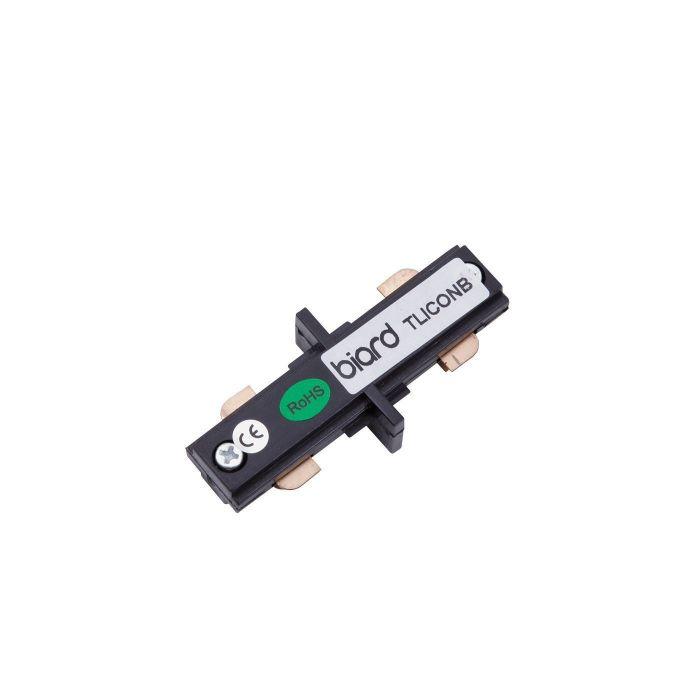 Biard Unión Conector Recto para Focos de Carril LED - Negro