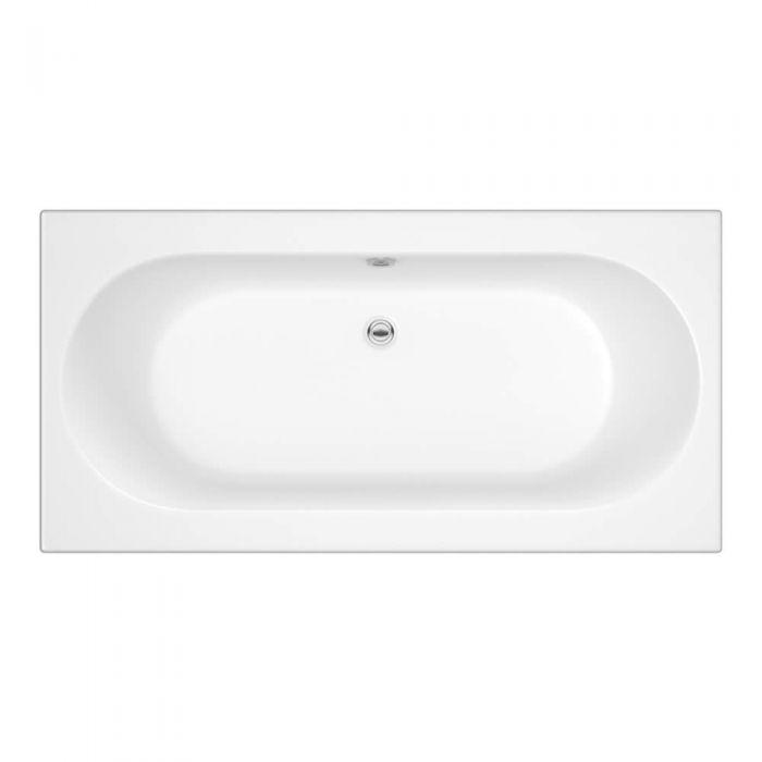 Bañera Rectangular Acrílica Blanca Diseño Contemporánero de 1700x750mm