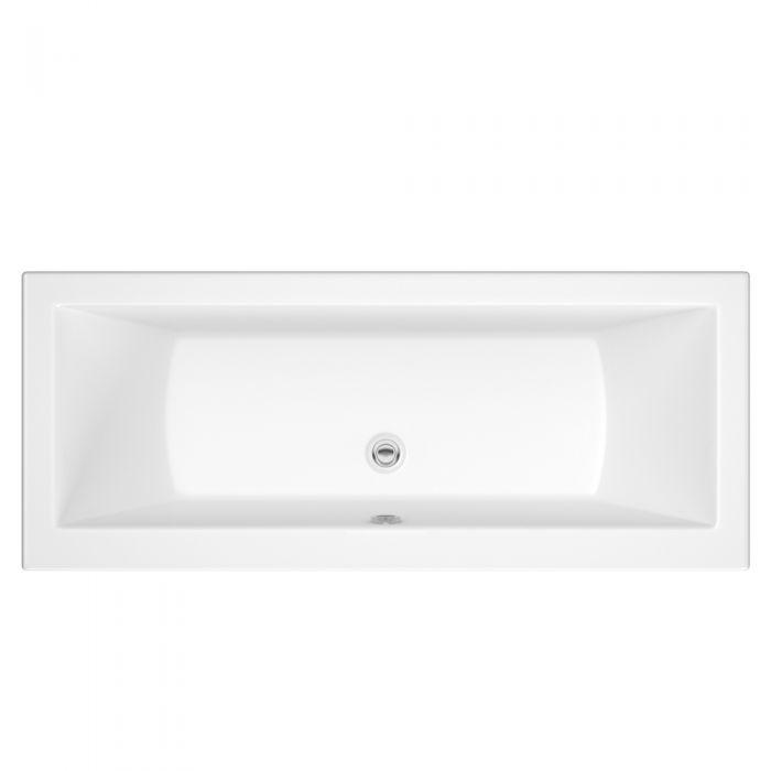 Bañera Rectangular Acrílica Blanca 1800x800x4mm Diseño Moderno