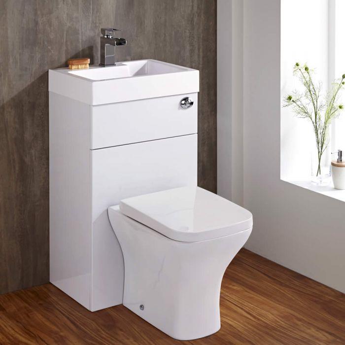 Conjunto Baño Color Blanco Completo con Lavabo e Inodoro