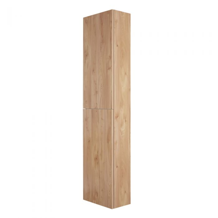 Armario de Pared de 350x1500mm para Cuarto de Baño Color Roble Dorado - Newington