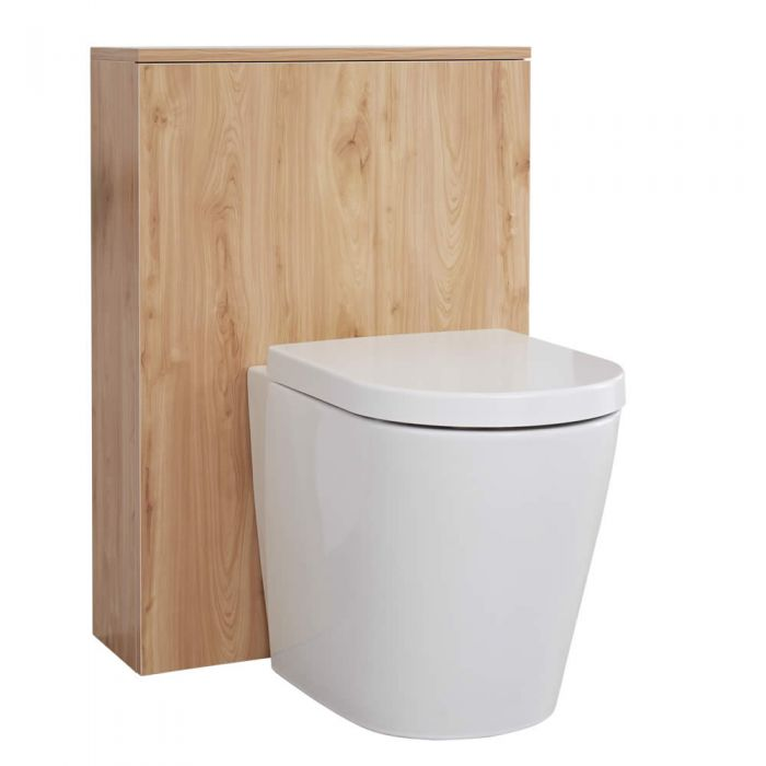 Mueble de Baño de 600mm Color Roble Dorado para Inodoro - Newington