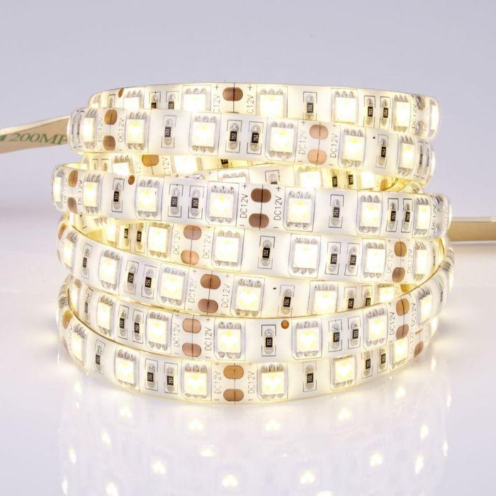 Biard Tira de Luces LED 3528 de 5 Metros Blanco Ultra Cálido - Resistente al Agua