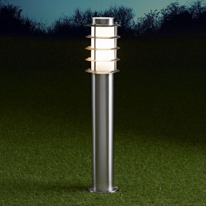 Biard Sobremuro LED de 600mm para Exteriores de Acero Inoxidable y Bombilla E27 - Belfort
