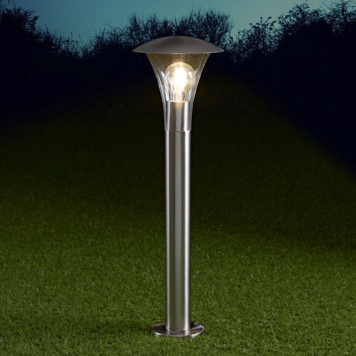 Biard Baliza LED de 175 x 600mm para Exteriores de Acero Inoxidable y Bombilla E27 - Cholet
