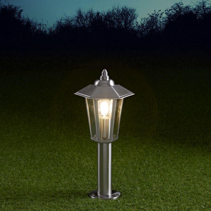 Biard Sobremuro LED 450mm para Exteriores estilo Farol 4W de Acero Inoxidable y Bombilla E27 - Cannes