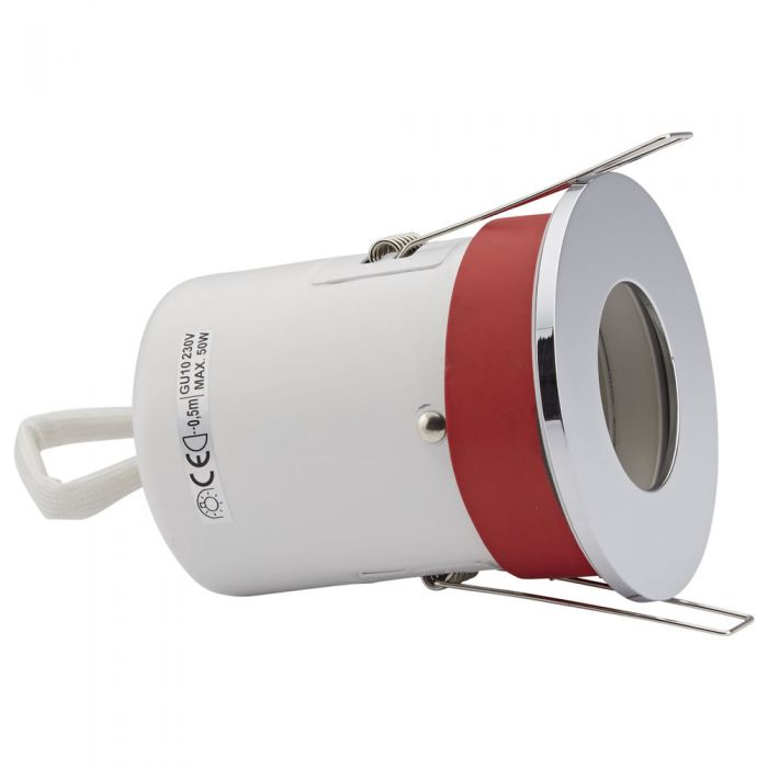 Biard Foco Downlight Empotrable de Techo Clasificación Ignífuga GU10 con Bisel Redondo Disponible en 3 Colores