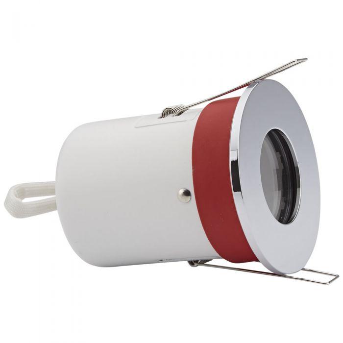 Biard Foco Downlight Empotrable de Techo Clasifícación Ignífuga GU10 IP65 con Bisel Redondo Disponible en 3 Colores