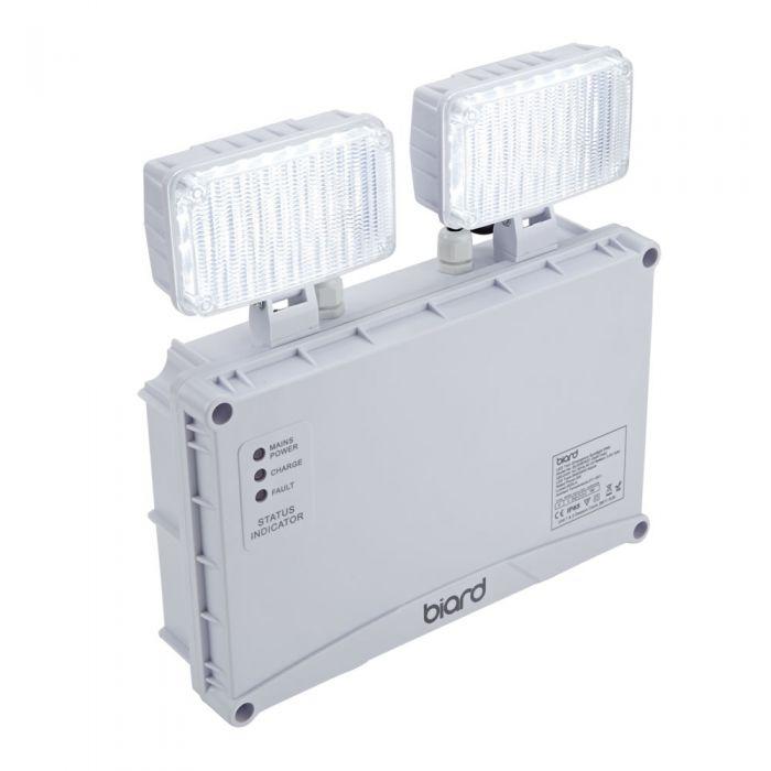 Biard Luz de Emergencia LED 5W IP65 con 2 Focos LED