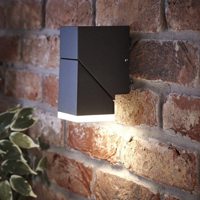 Biard Aplique LED Mural Orientable Negro con Luz Ascendente o Descendente - Ziersdorf