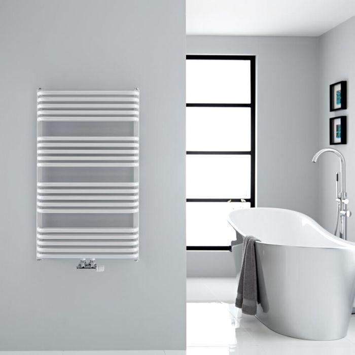Calefaccion Para Baños | Hudson Reed Radiador Toallero Curvo Para Bano En Acero Blanco
