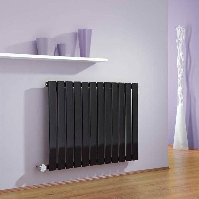 Radiador de Diseño Eléctrico Horizontal - Negro - 635mm x 840mm x 46mm -  Elemento Termostático de 600W  - Delta
