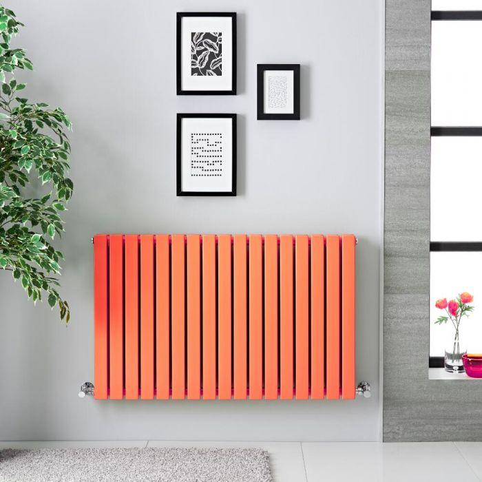 Radiador de Diseño Horizontal Doble - Naranja Claro - 635mm x 1000mm x 71mm - 1022 Vatios -Sloane