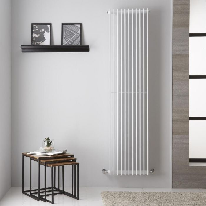 Radiador de Diseño Vertical - Color Blanco - 1800mm x 445mm - 1584 Vatios - Roma