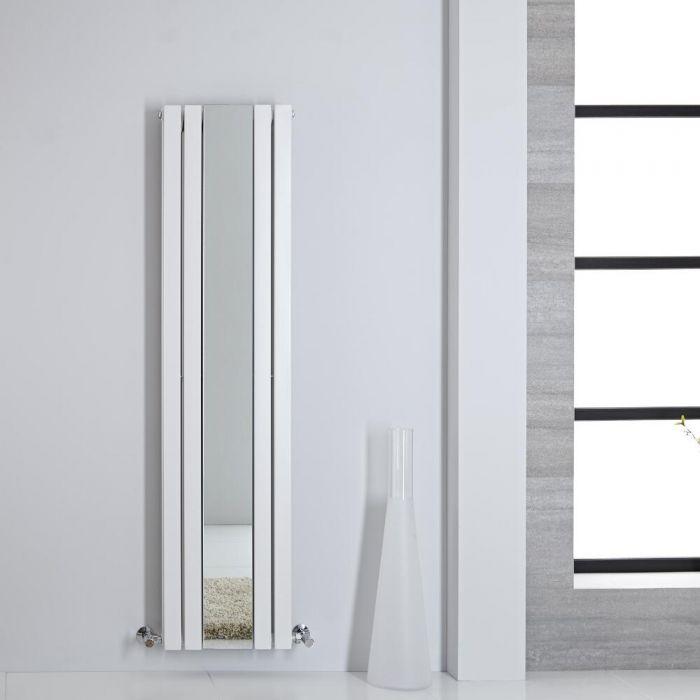 Radiador de Diseño - Vertical Con Espejo - Blanco - 1600mm x 385mm - 1474 Vatios - Sloane