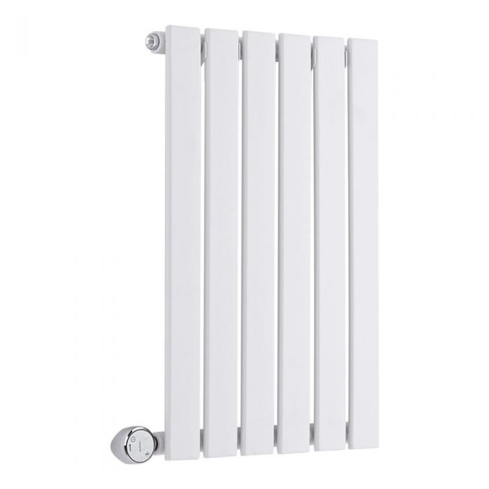 Radiador de Diseño Eléctrico Horizontal - Blanco - 635mm x 420mm x 54mm -  Elemento Termostático de 400W  - Sloane