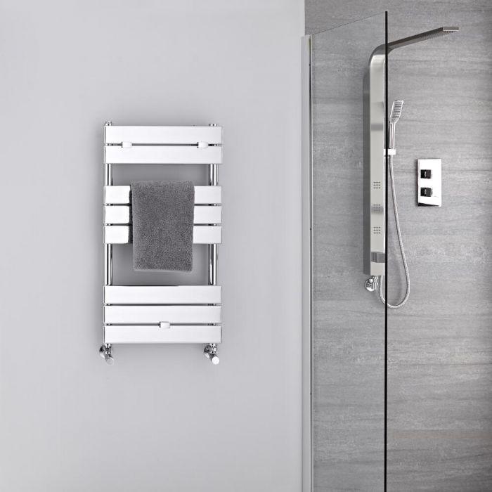 Radiador Toallero -Paneles Planos - Cromado - 840mm x 450mm - 250 Vatios - Lustro