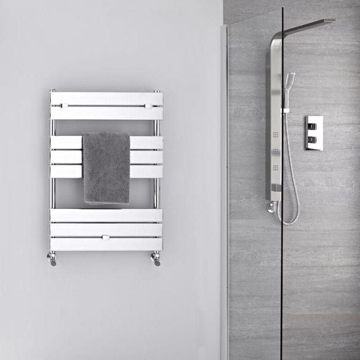 Radiador Toallero -Paneles Planos - Cromado - 840mm x 600mm  - 309 Vatios- Lustro