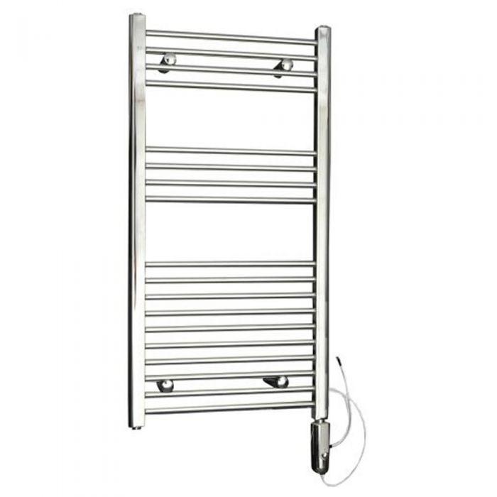 Radiador Toallero Eléctrico Termostático Plano - Cromado - 1000mm x 500mm x 30mm - Ladder