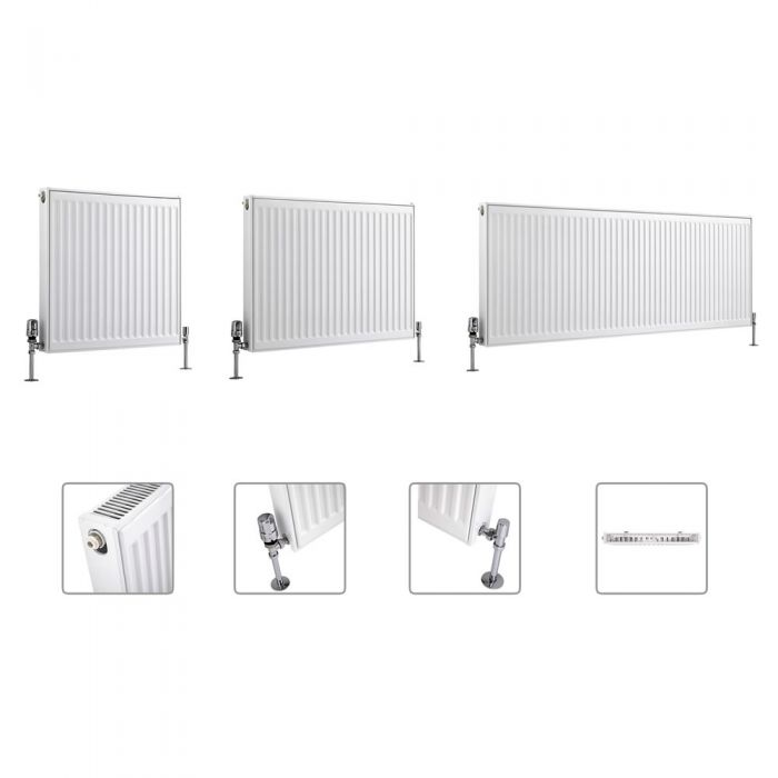 Radiador Convector Horizontal - Blanco - Disponible en Distintas Medidas – Eco