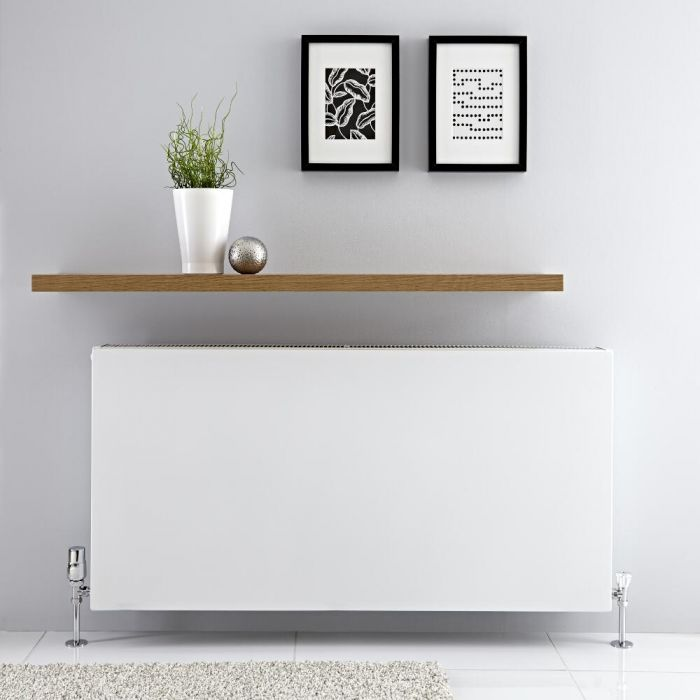 Radiador Convector Horizontal con Panel Doble - Blanco - 600mm x 1200mm x 103mm - 2597 Vatios - Type 22