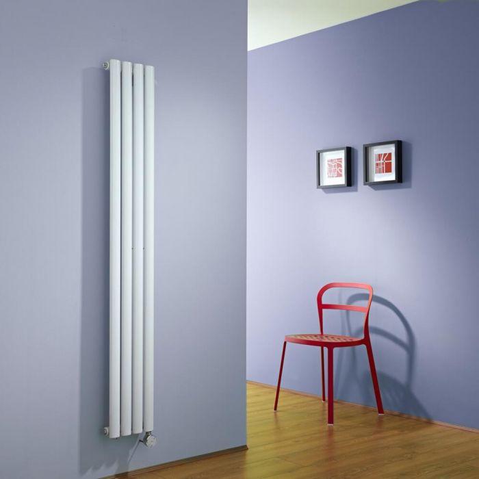 Radiador de Diseño Eléctrico Vertical - Blanco - 1600mm x 236mm x 56mm -  Elemento Termostático de 600W  - Revive