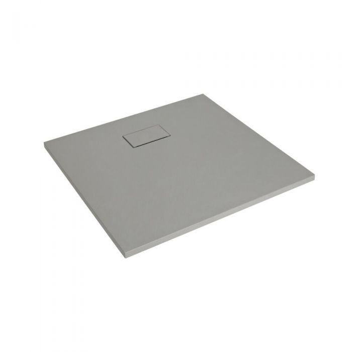 Plato de Ducha Cuadrado Efecto Piedra de Color Gris Claro de 900mm