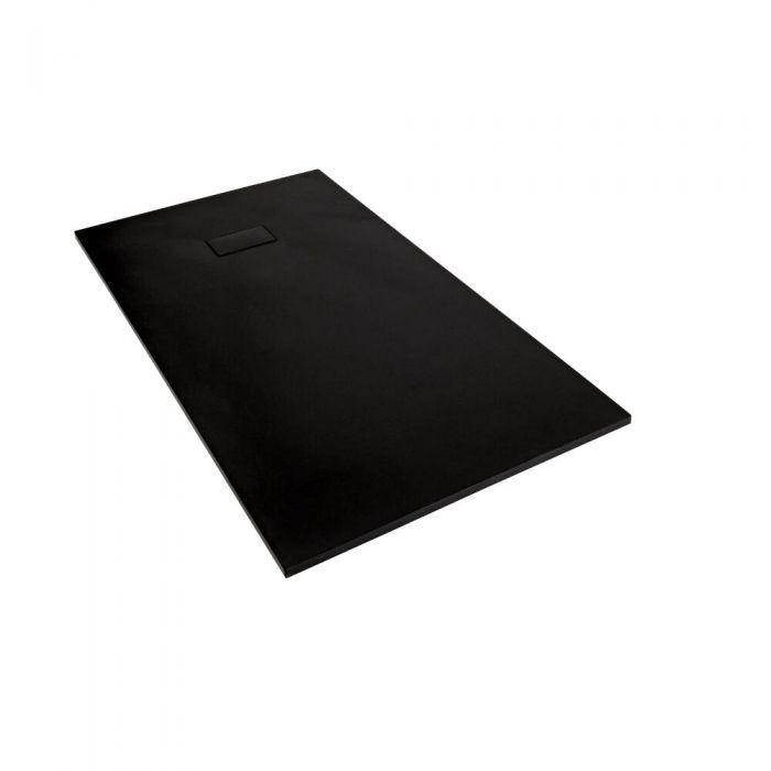 Plato de Ducha Rectangular Efecto Piedra de Color Grafito de 900x800mm