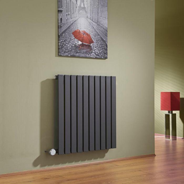 Radiador de Diseño Eléctrico Horizontal - Antracita - 635mm x 600mm x 54mm -  Elemento Termostático de 800W  - Sloane