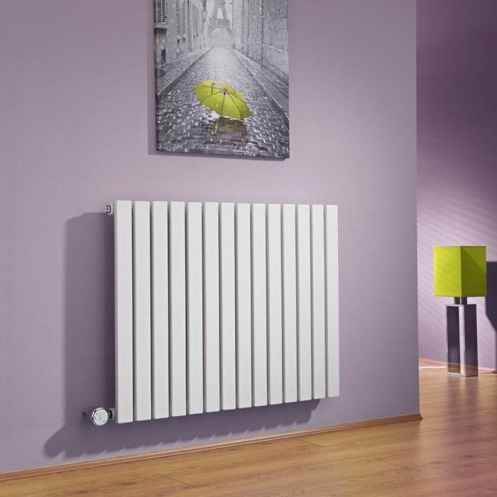 Radiador de Diseño Eléctrico Horizontal - Blanco - 635mm x 834mm x 54mm -  Elemento Termostático de 1000W  - Sloane