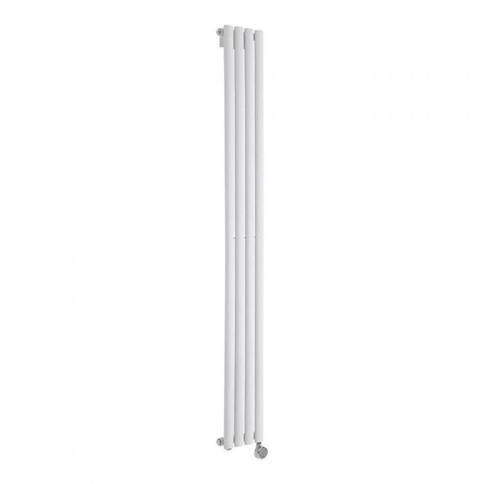 Radiador de Diseño Eléctrico Vertical - Blanco - 1780mm x 236mm x 56mm -  Elemento Termostático de 600W  - Revive