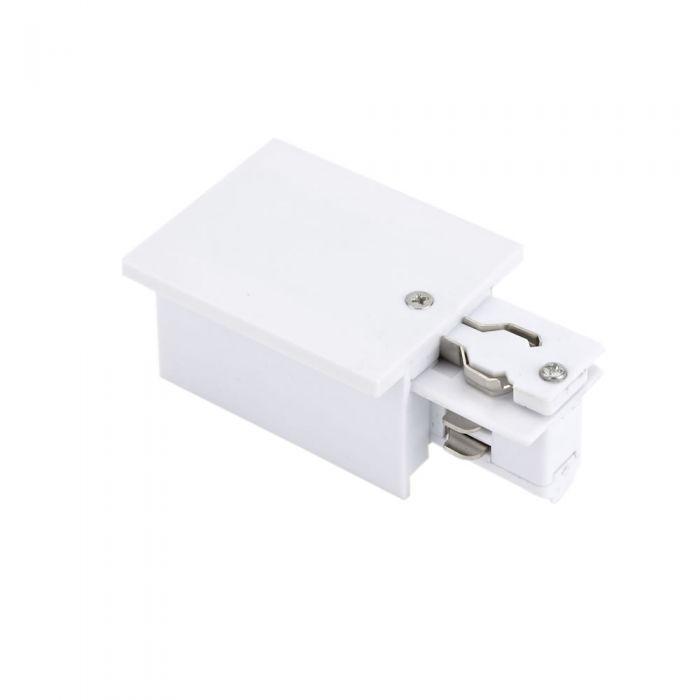 Conector de Alimentación Empotrable para Sistemas de 3 Circuitos - Blanco