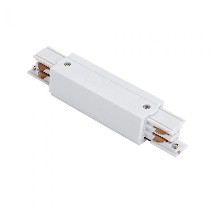Biard Conector de Alimentación Recto Para Sistemas de 3 Circuitos - Blanco