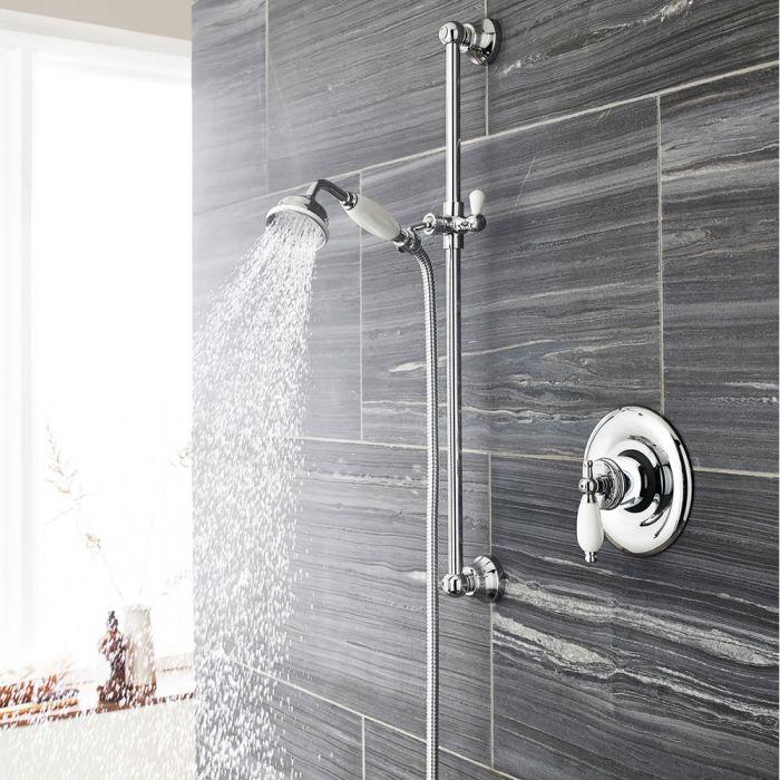 Sistema de Ducha con Barra Deslizante Tradicional con Llave de ducha termostática Exp