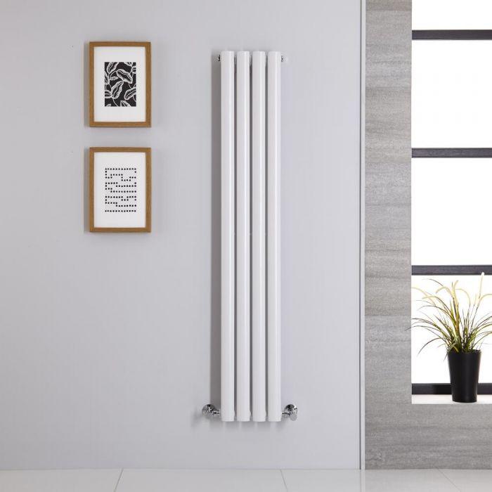 Radiador de Diseño Vertical - Blanco - 1400mm x 236mm x 56mm - 457 Vatios - Revive