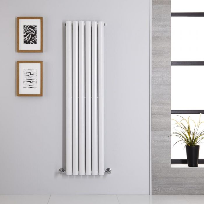 Radiador de Diseño Vertical - Blanco - 1400mm x 354mm x 56mm - 686 Vatios - Revive