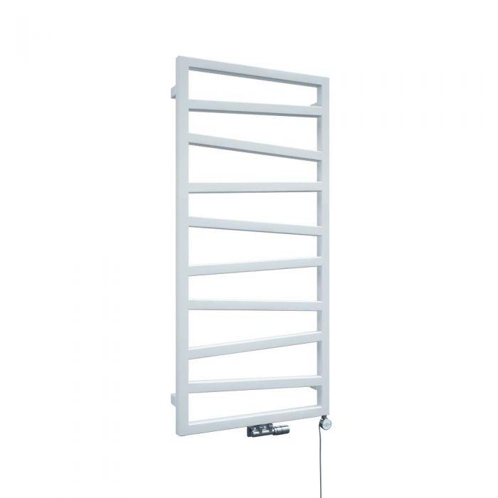 Radiador Toallero de Diseño Vertical Con Conexión Central - Blanco - 1070mm x 500mm x 30mm - 514 Vatios - Torun