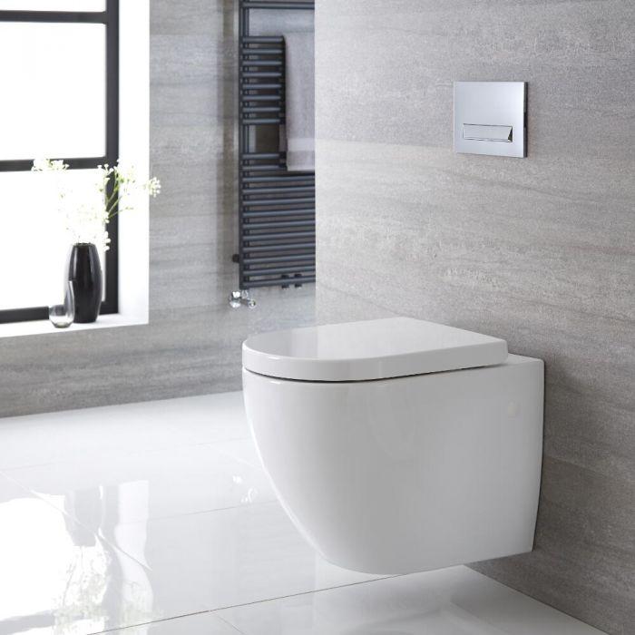 Inodoro WC Oval Suspendido 385x365 x555mm con Tapa de WC Soft Close - Ashbury