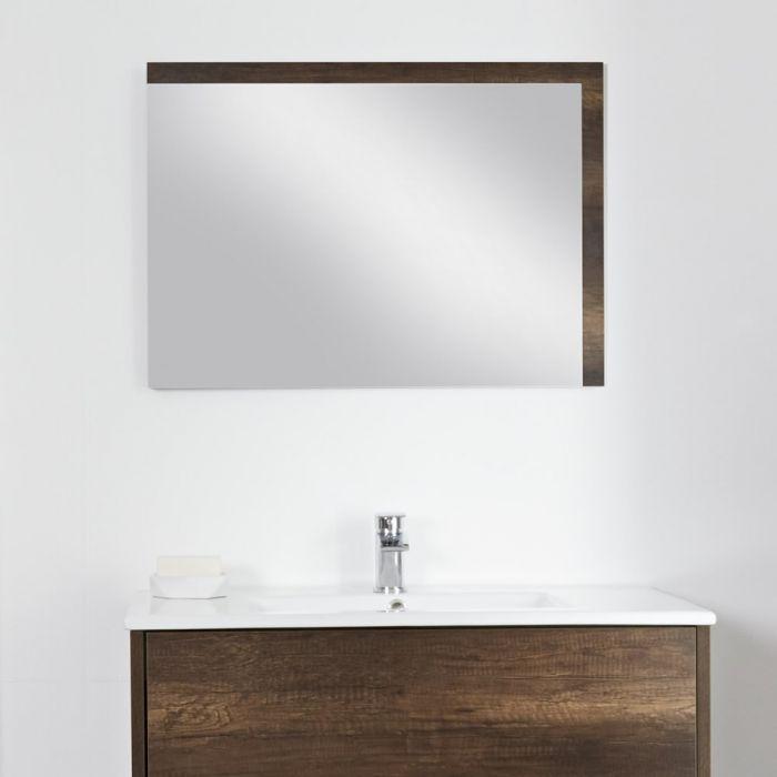 Espejo de 500x700mm para Cuarto de Baño Roble Oscuro- Hoxton