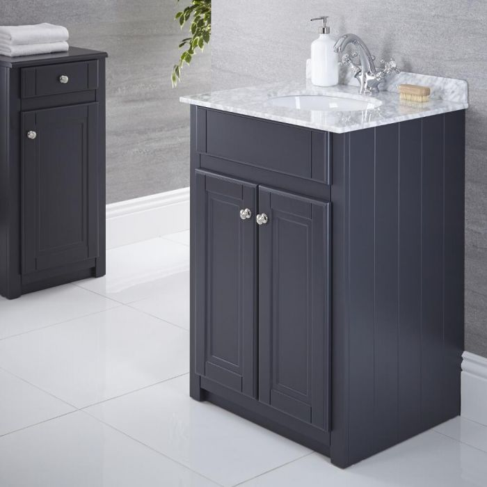 Mueble de Lavabo Tradicional Antracita 600mm - Charlton