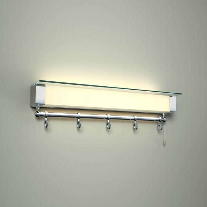 Luminaria LED con Repisa y Porta Toallas para Cuarto de Baño  - Achen